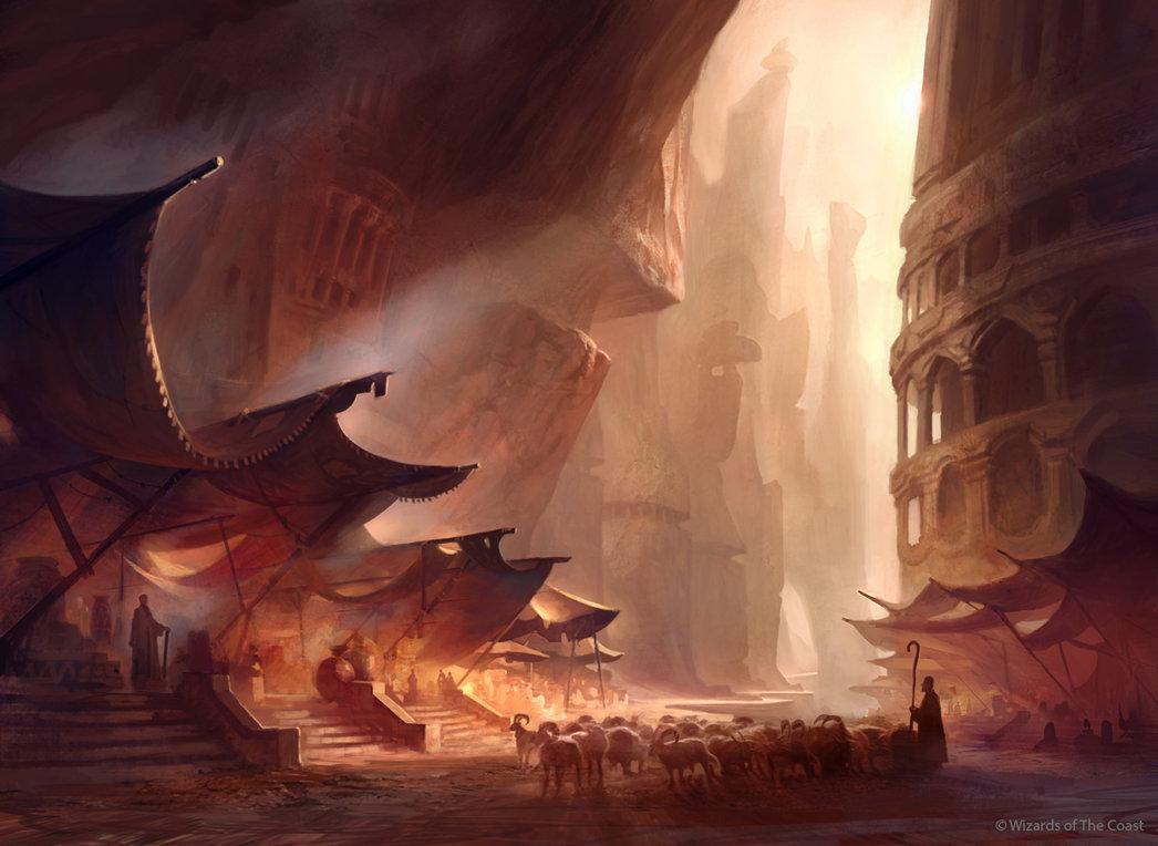Fantasy Trade Post Keeper Art